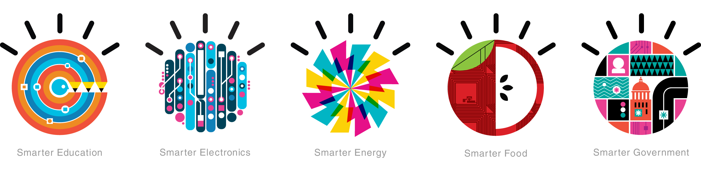 IBM Smarter Planet visual language designed by Office-006