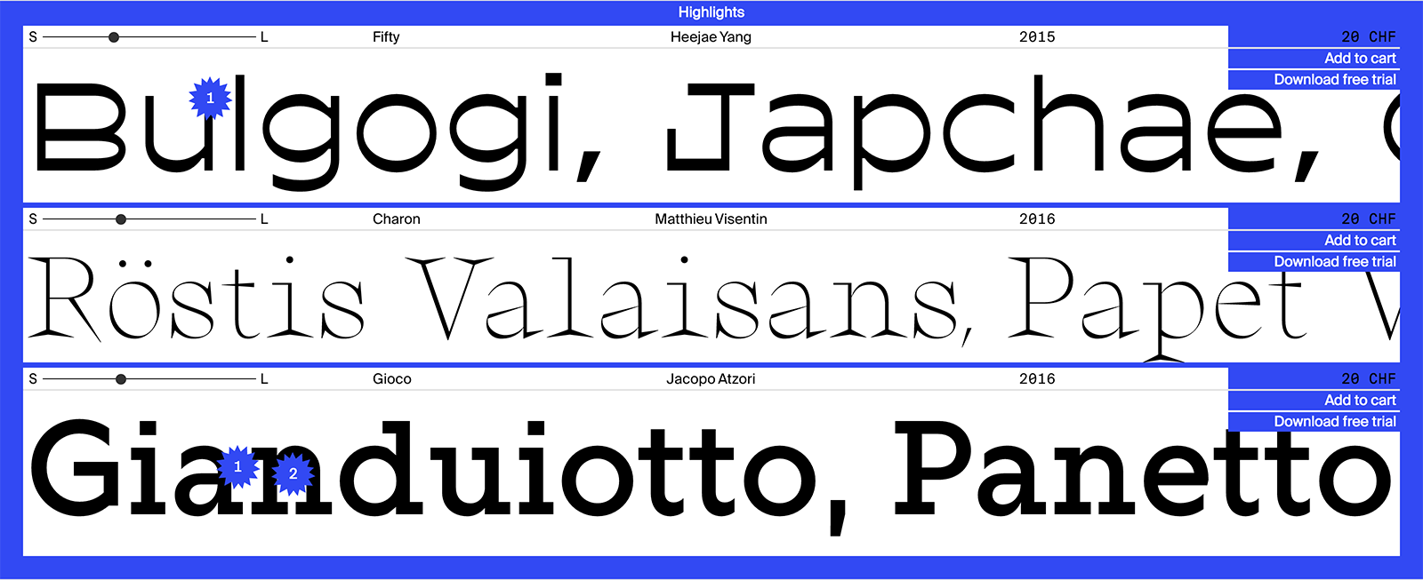 ecal typefaces designed by students