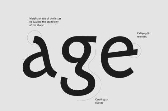 Carolinale typeface design featured