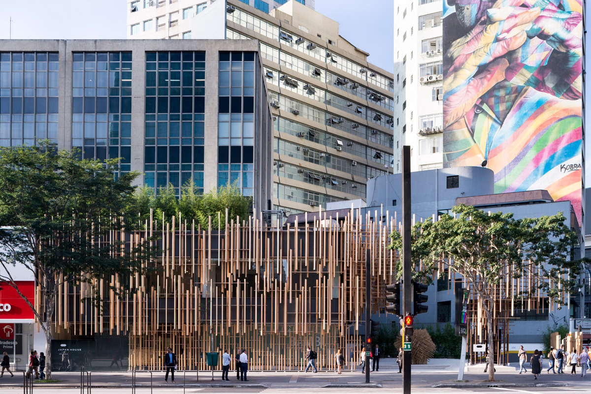 Japan House Sao Paulo designed by Kengo Kuma